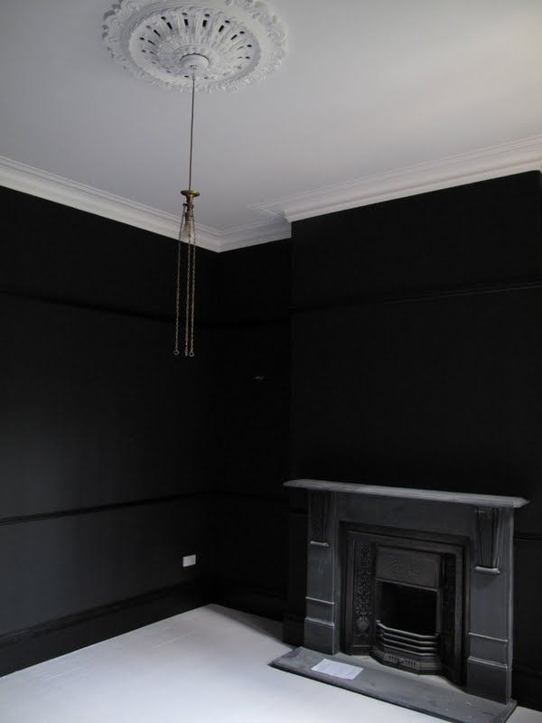 Black Walls Black Walls House Styles Black Rooms