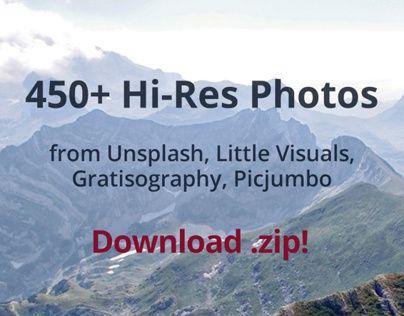 450+ Hi-Res Free to Use Photos, 2.7 GB!