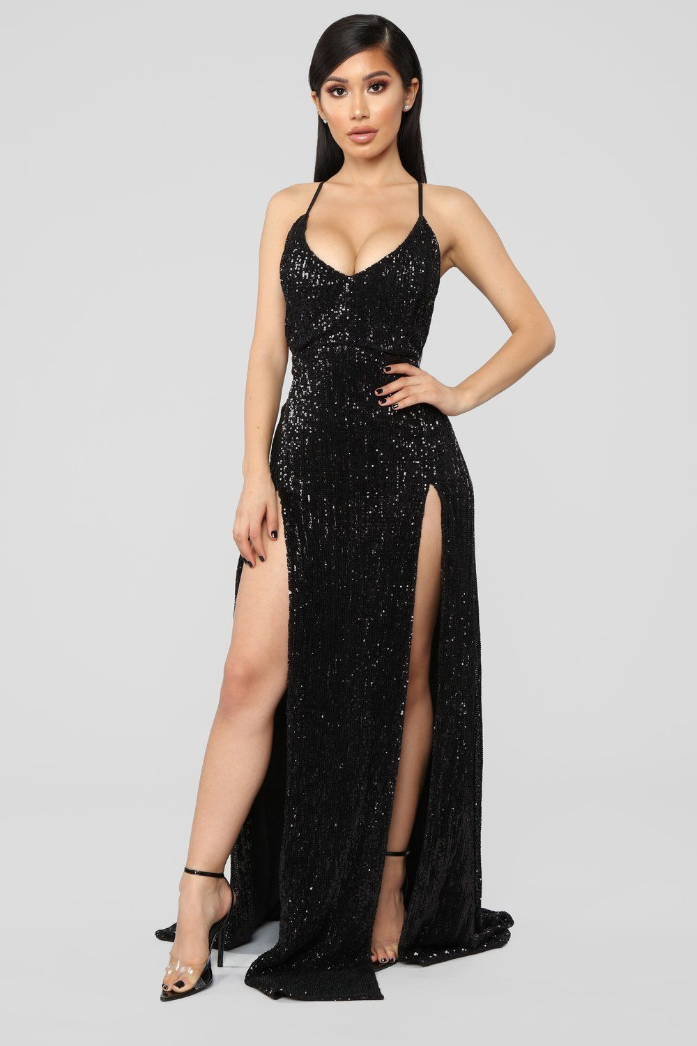 New Arrivals - Dresses. Hollywood Rooftop Party Sequin Dress - Black ea1883be556b