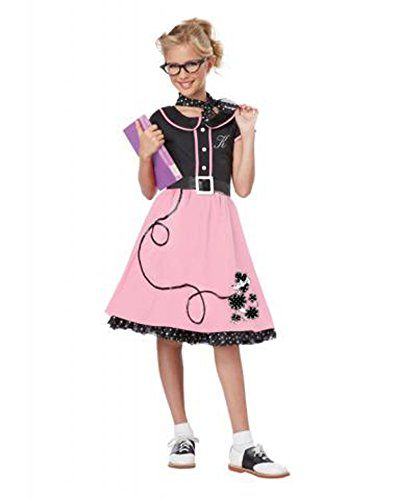 6374aed85b43 Child's 50's Sweetheart Costume, Pink Poodle Pink by California Costumes