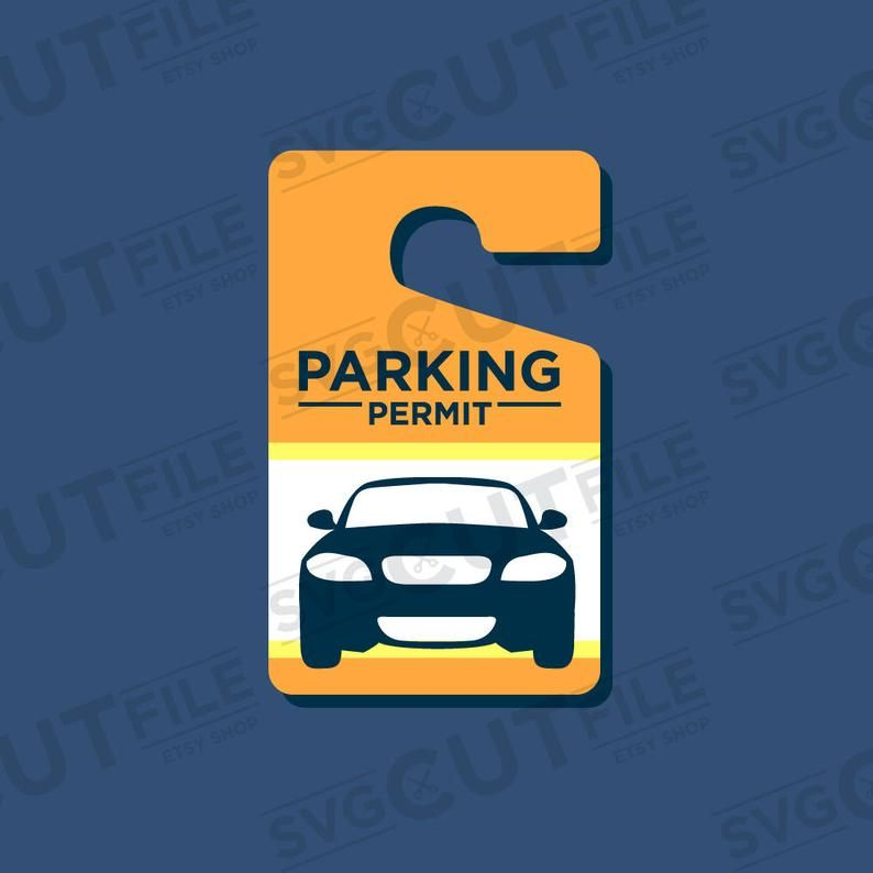 Parking Pass Svg Parking Permit Svg Parking Tags Svg Etsy Svg Corporate Style Things To Sell