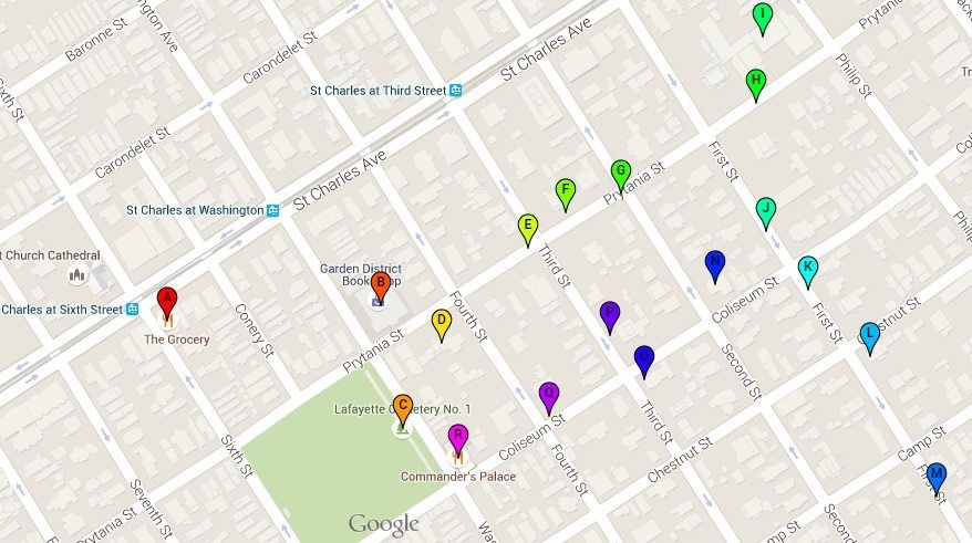 garden district new orleans walking tour map. Self Guided Garden District Tour. Great To Help You Learn More About What Makes New Orleans\u0027 Such A Unique American Neighborhood Orleans Walking Tour Map F