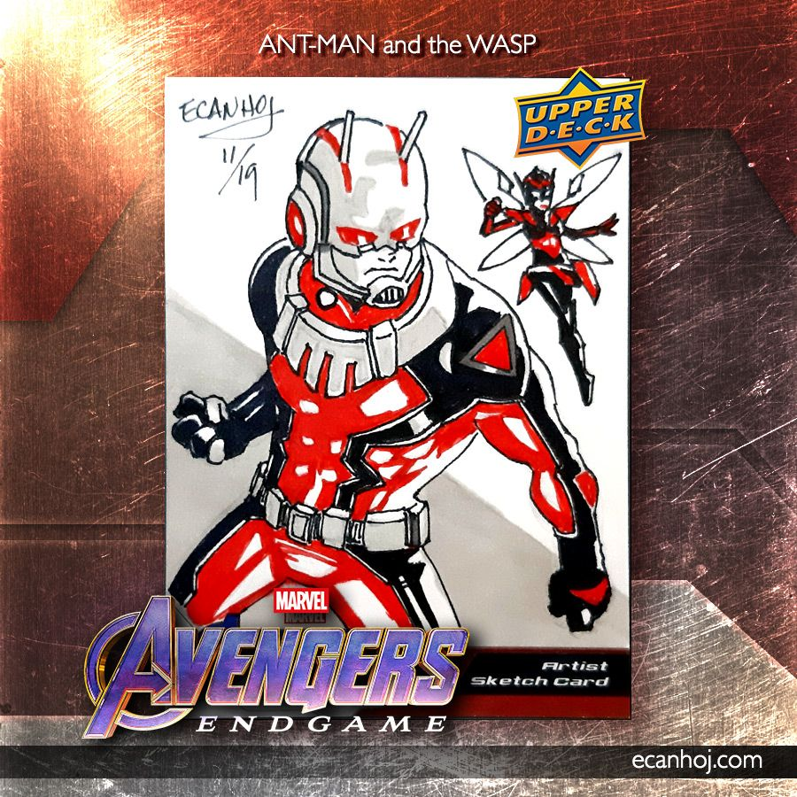 Ant-Man and the Wasp Marvel Comics Upper Deck Sketch Card