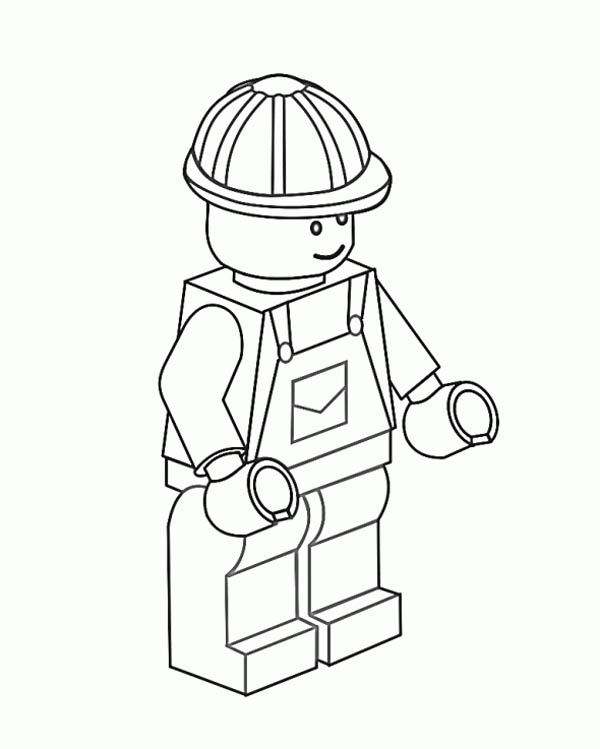 Construction Worker Lego Coloring Page Coloring Sky Lego Coloring Pages Lego Coloring Coloring Pages
