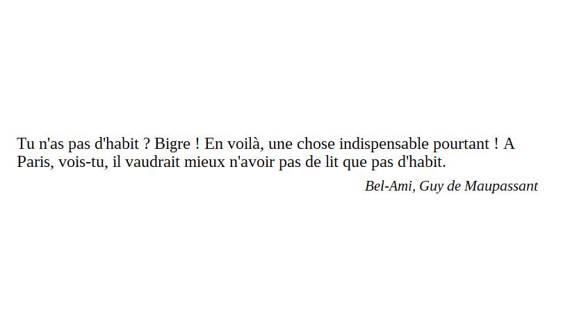 Cette Citation Qui Provient Du Roman Bel Ami De Maupassant M
