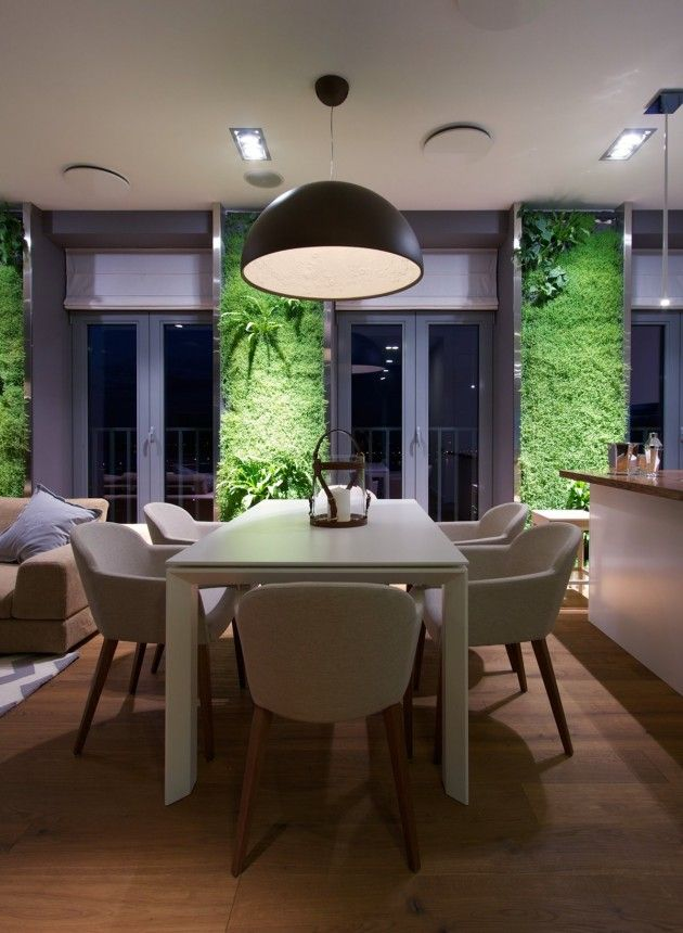 Svoya studio have designed an apartment with green walls in dnipropetrovsk ukraine