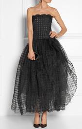 Tulle gown by Oscar de la Renta