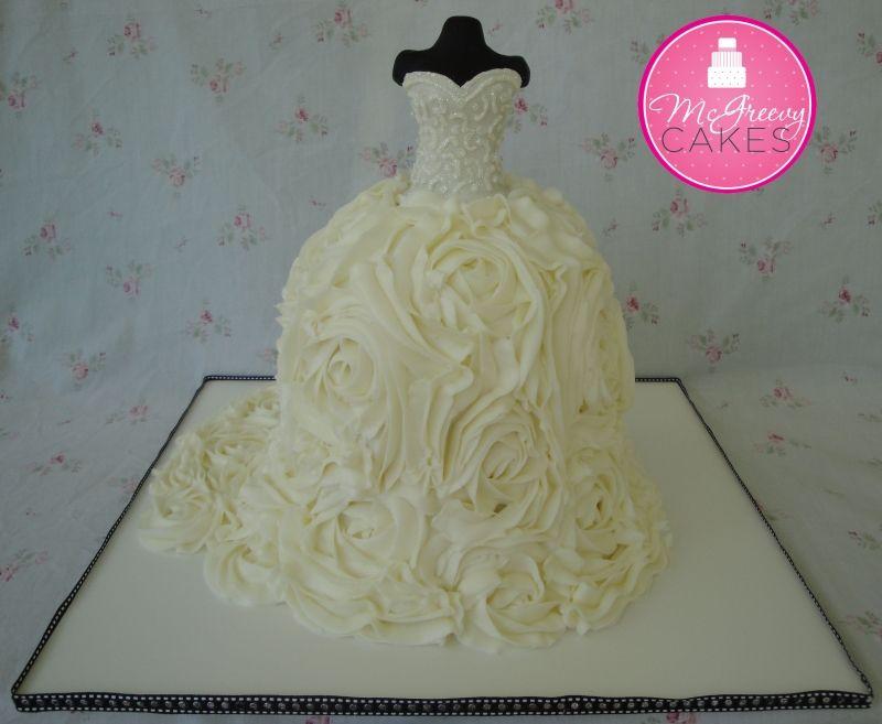 Too cute! Bridal dress cake!
