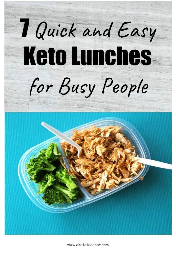 and Easy Keto Lunches for Busy People - A Keto TeacherQuick and Easy Keto Lunches for Busy People -