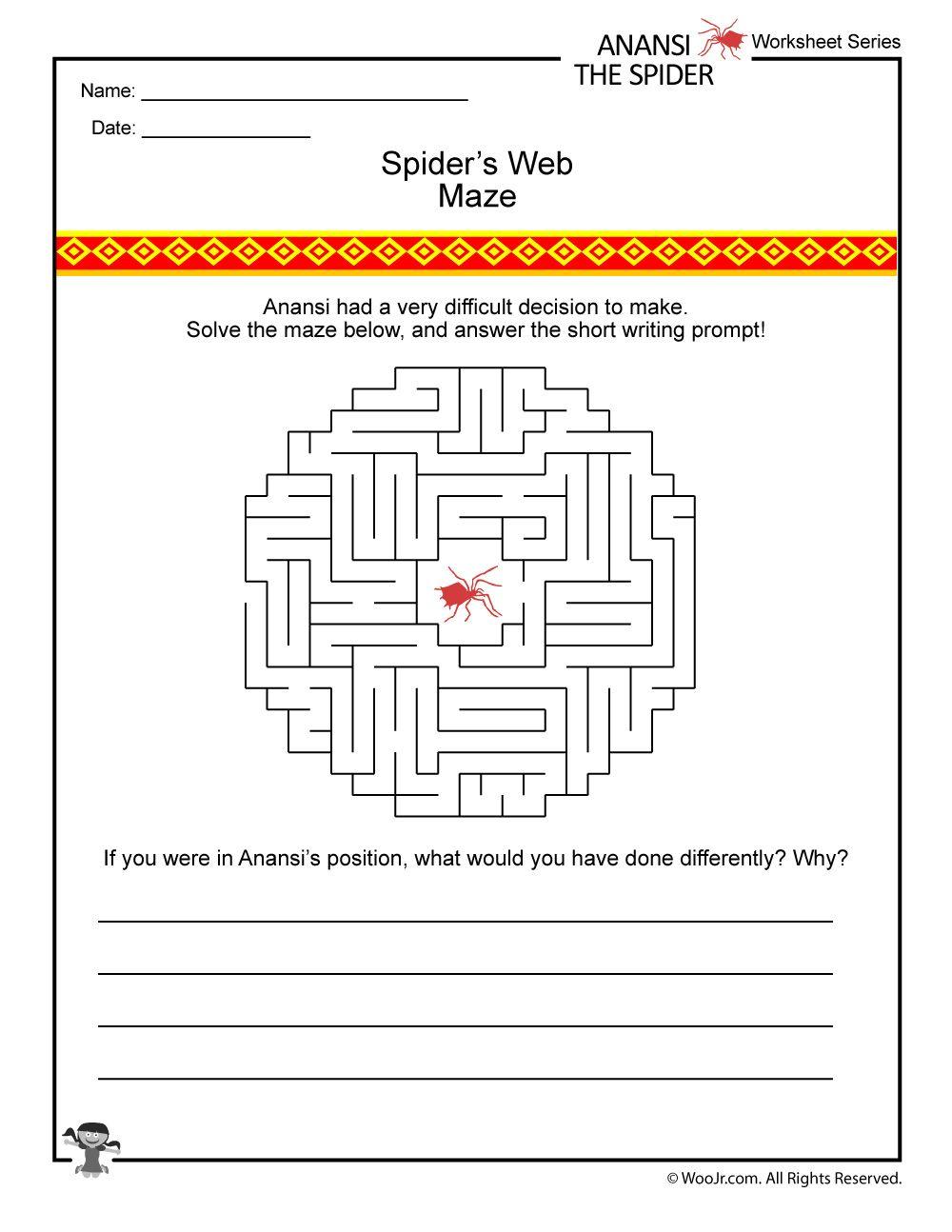 Anansi The Spider Activity Page Woo Jr Kids Activities Spider Activities Spider Lessons How To Plan [ 1294 x 1000 Pixel ]