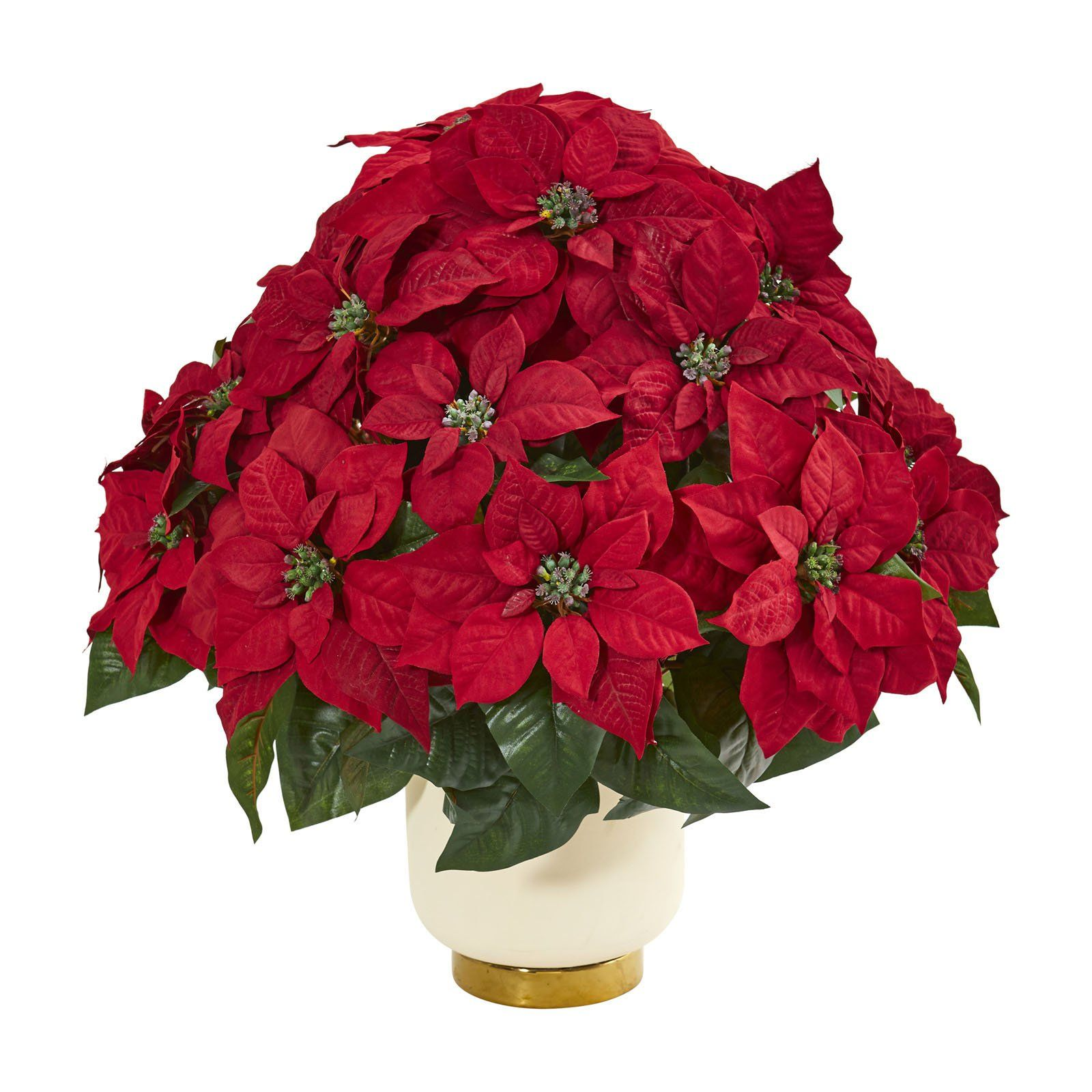 Nearly Natural Poinsettia Artificial Arrangement with