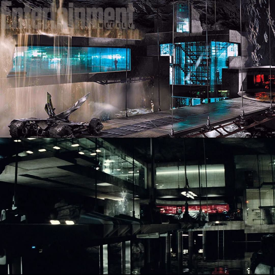 Batman Arkham Knight Batcave: Concept Art (top) For The 'Batman V Superman: Dawn Of
