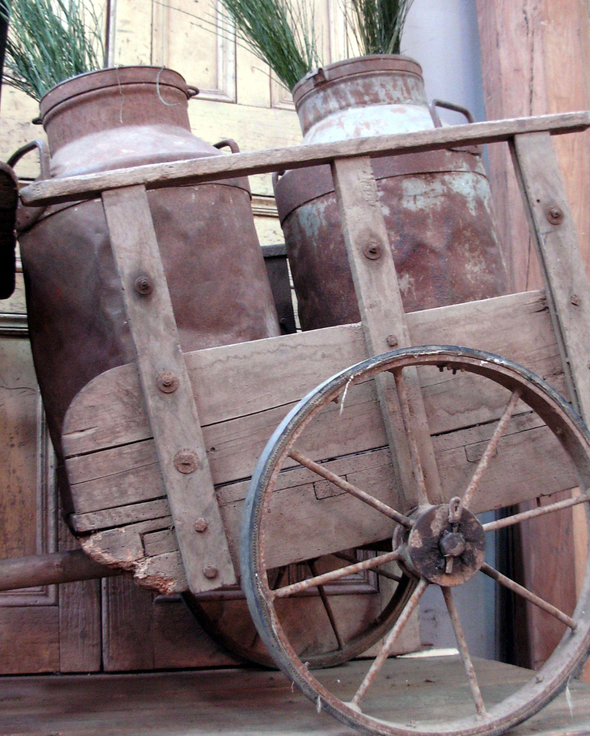 Antigua carreta con lecheras antikes co antig edades cd for Antiguedades para restaurar