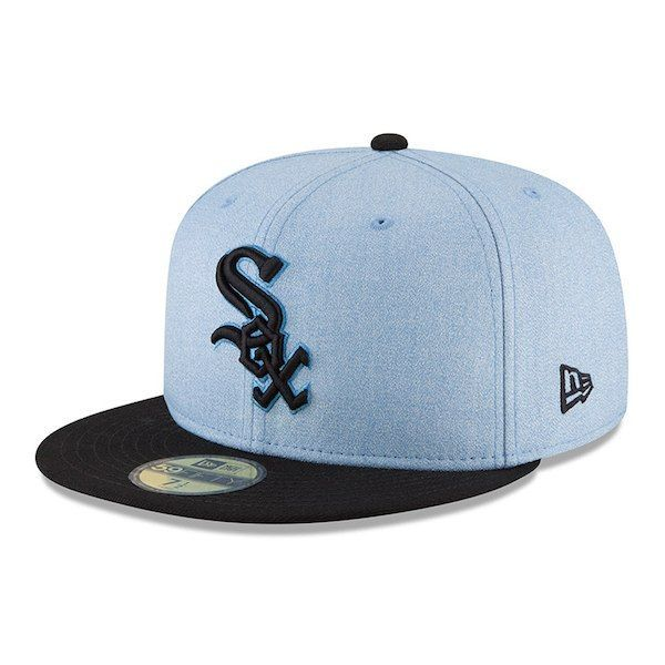 6c25bb8dd6739 Men s Chicago White Sox New Era Light Blue 2018 Father s Day On Field  59FIFTY Fitted Hat