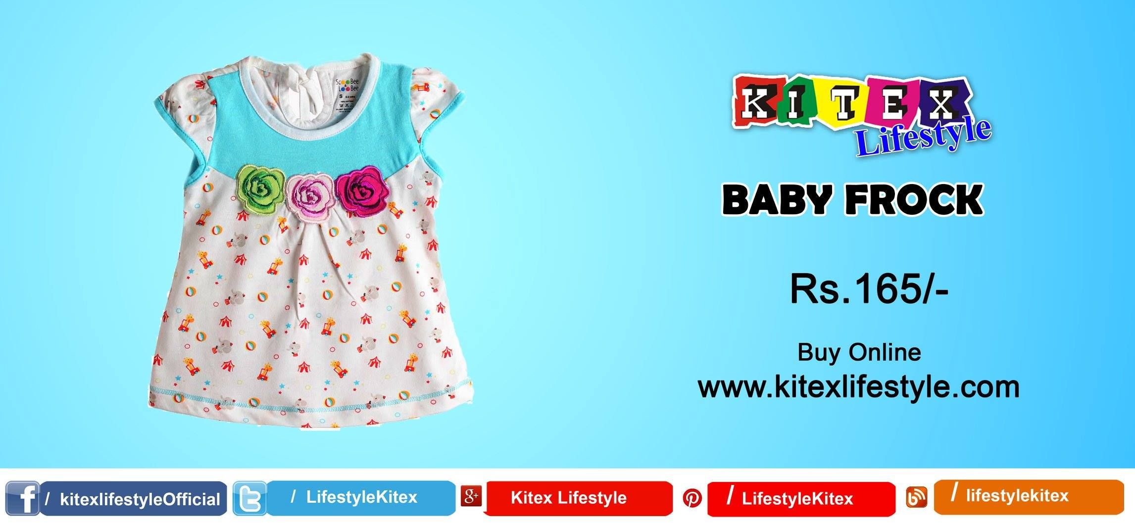 f08316d35942 Buy Scoo Bee& Loo Bee BABY FROCK online... Rs. 165/- visit  www.kitexlifestyle.com