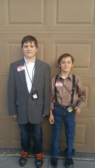 My Kid S Halloween Costumes This Year Steve Jobs And Bill Gates