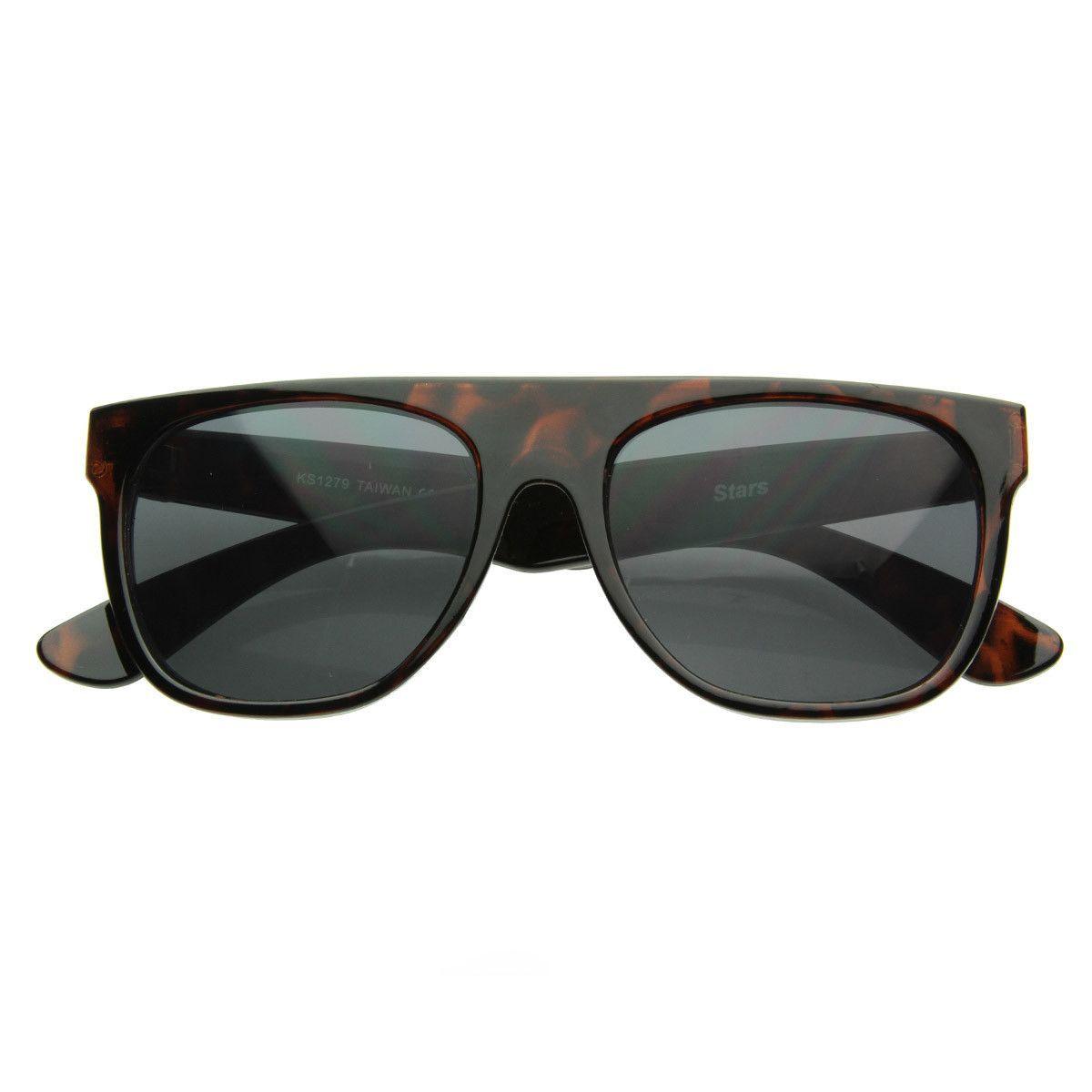 98cb28b194 Womens Hollywood Celebrity Kim Kardashian Flat Top Aviator Square Sunglasses  8685