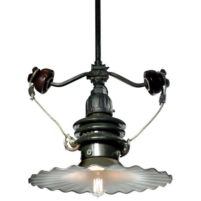 Porcelain Street Lamp Outrigged Insulators Street Lamp Steampunk Lighting Lamp