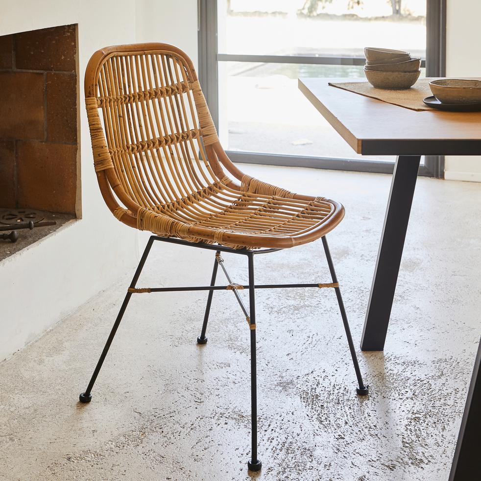 Chaises Alinea Salle A Manger chaise en rotin et métal - alinéa en 2020 | chaise rotin