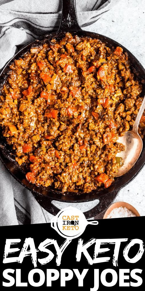 Keto Sloppy Joes Recipe Skillet Dinner Style Cast Iron Keto Recipe In 2020 Keto Beef Recipes Ground Beef Keto Recipes Keto Recipes Dinner