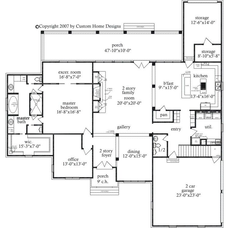 Brantwood Master Bath W Walk Thru Shower Master Suite Floor Plan Basement House Plans Bathroom Floor Plans