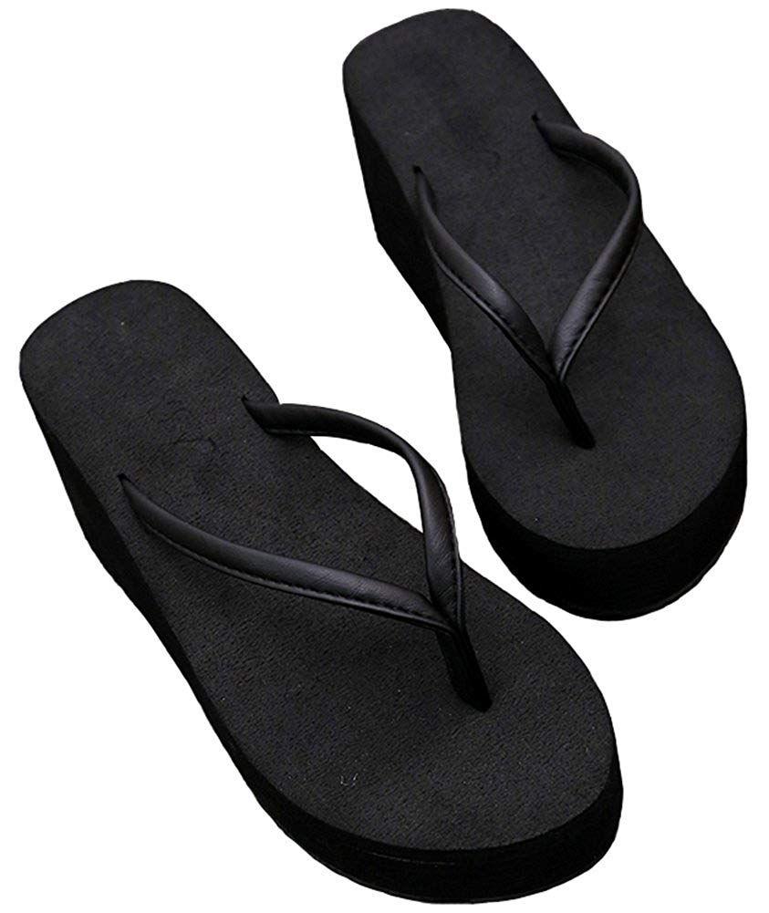 e734d6d0edb Difyou Women s Wedge Thong Anti-Slip Beach Sandals Flip Flops -- We do hope