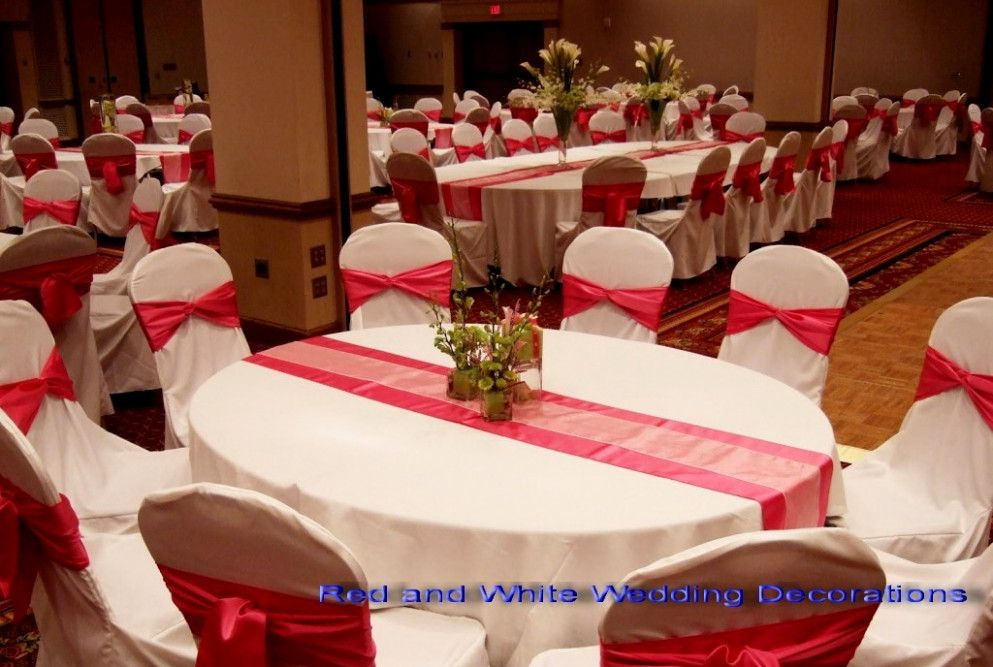 Wedding Ideas Red And White