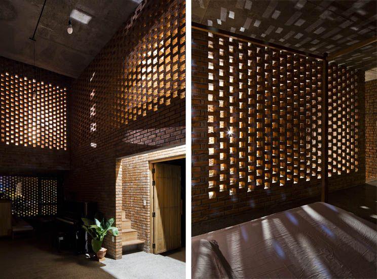 Celos a de ladrillo termitary house arquitectura - Celosias de hormigon ...