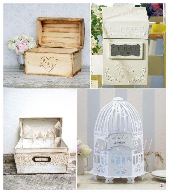 Urne mariage retro vintage coffre bois boite aux lettres for Decoration urne