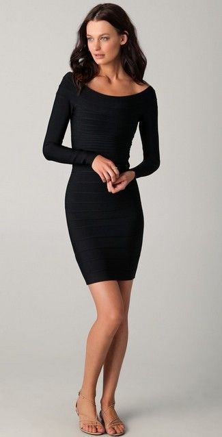 Images of black cocktail dresses with sleeves