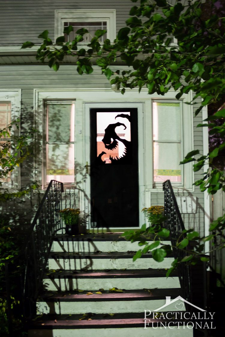 DIY Vinyl Halloween Door Decorations Halloween door decorations - Halloween Door Decorations