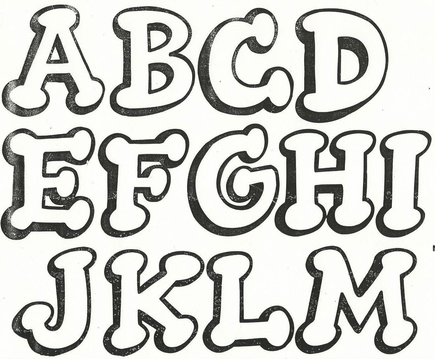 Letras Mayúsculas 1   letras divertidas   Pinterest   Letras, Moldes ...