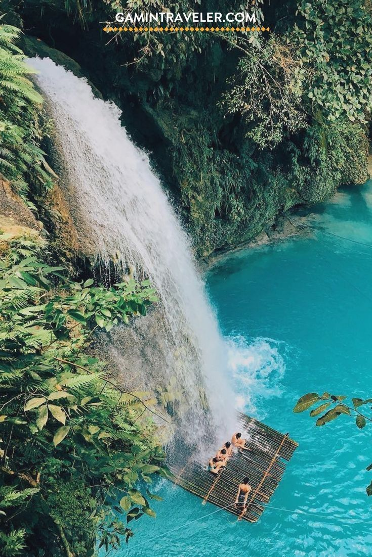 The best plan in Cebu is visiting Kawasan Falls. How To Get To Kawasan Falls From Cebu, Oslob and Moalboal via @gamintraveler