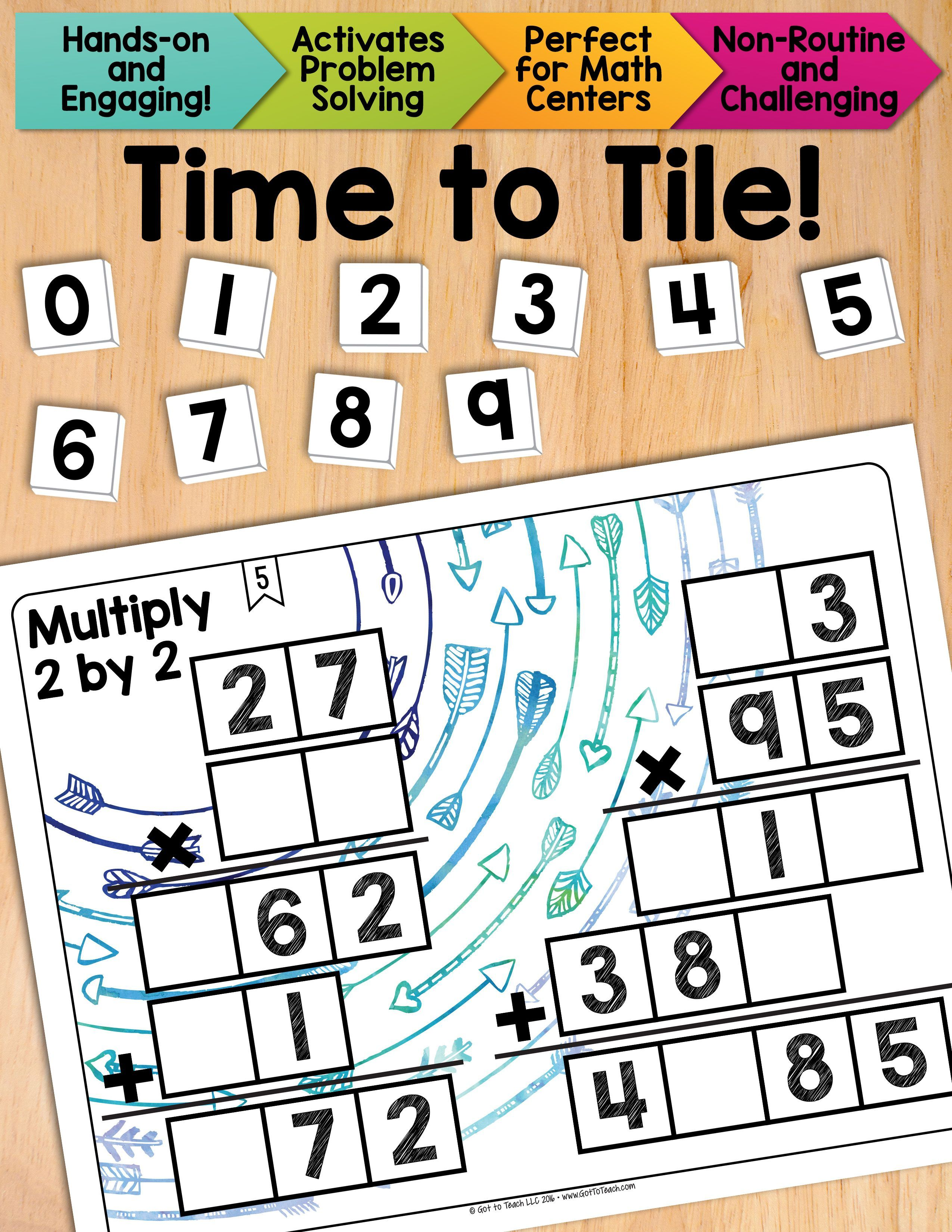 Math Tiles Multiply 2 By 2 Math Centers