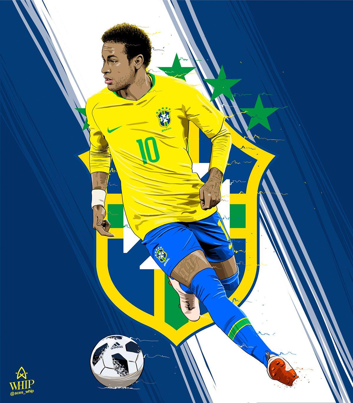 Https Www Behance Net Gallery 66962053 Worldcup Players Neymar Football Brazil Football Team Football Drawing