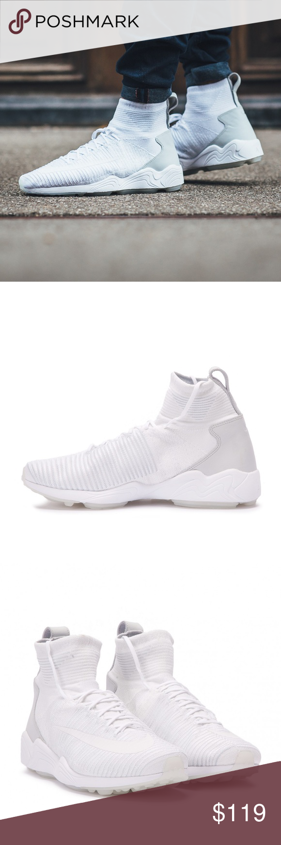 30cfcb865aa9 NIKE  Zoom Mercurial XI Flyknit Air White Soccer NEW IN BOX NIKE Zoom  Mercurial XI