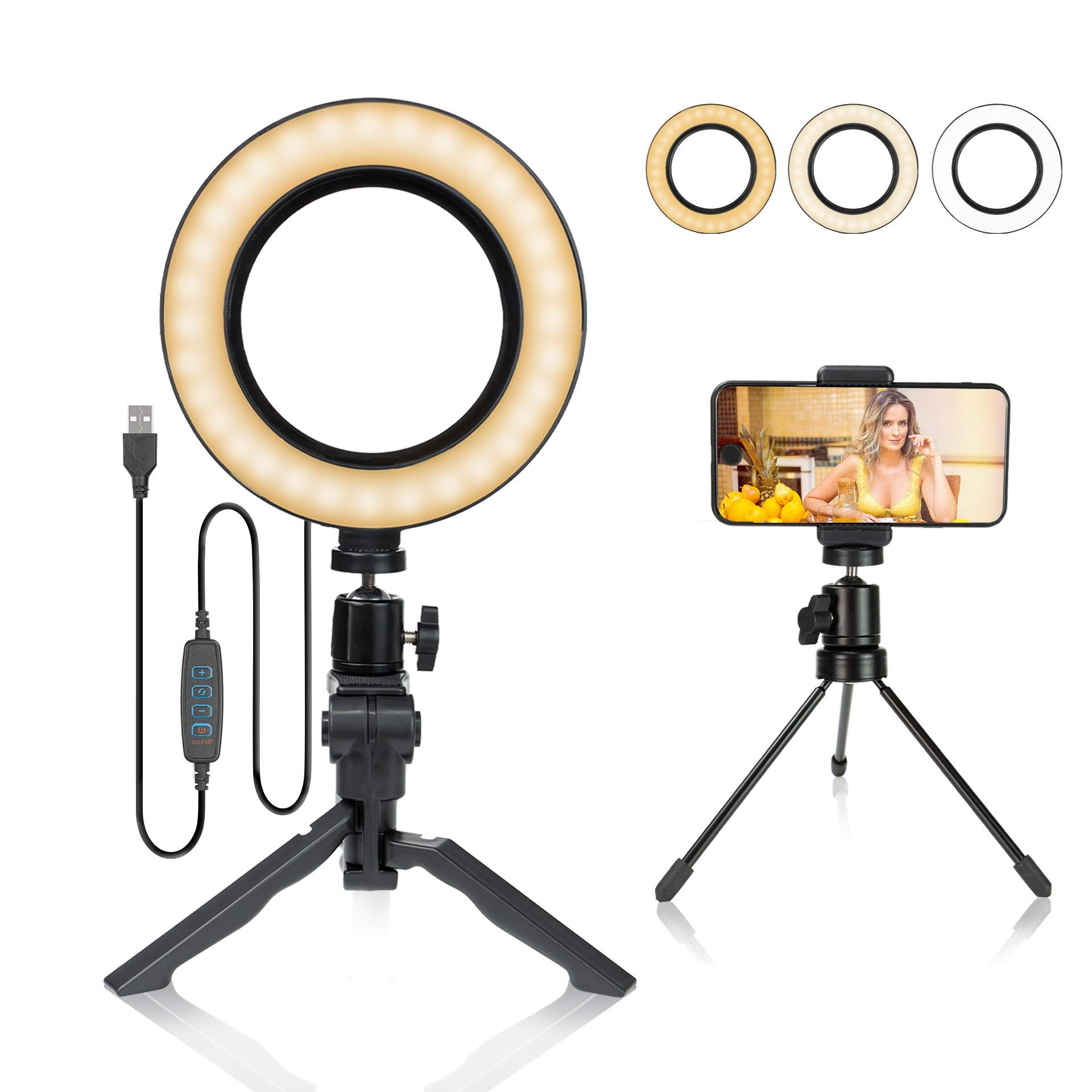 6 Inch Ring Light With Stand And Ring Light With Stand Led Ring Light Led Ring