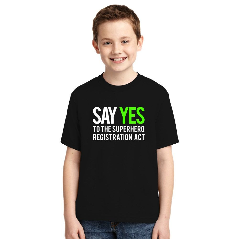 Say Yes To The Superhero Registration Act Youth T-shirt