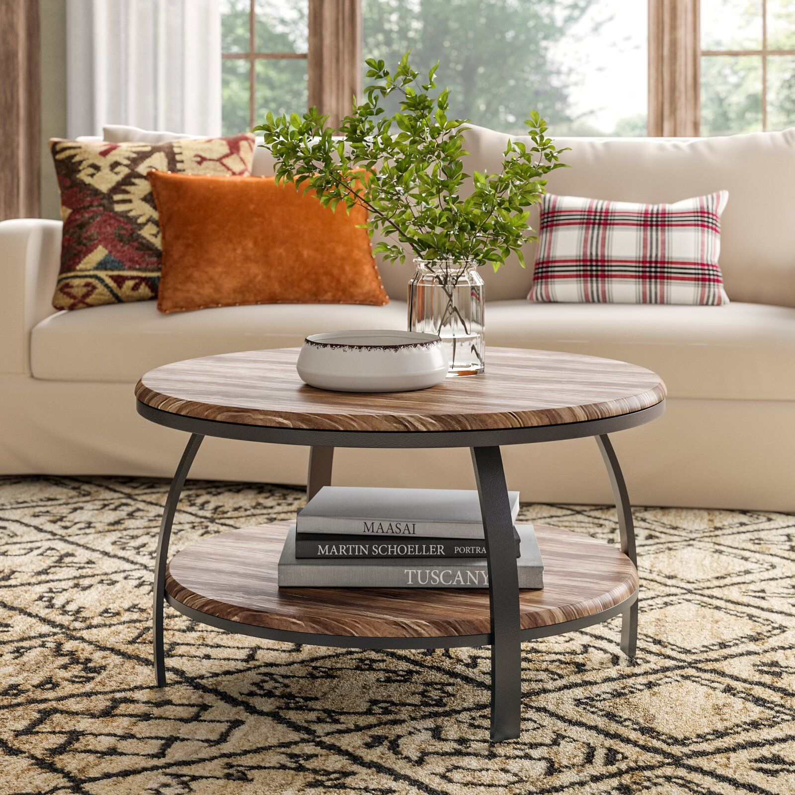 Union Rustic Mccormick Coffee Table With Storage Coffee Table Living Room Coffee Table Round Coffee Table Living Room [ 1600 x 1600 Pixel ]