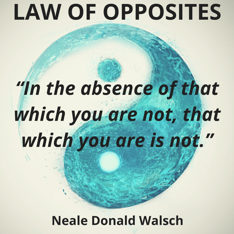without the opposite of what you are what you are cannot exist