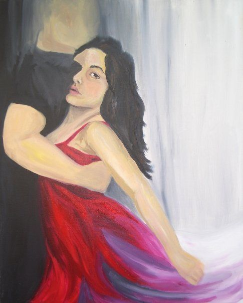 """""""Dance me through the Panic till I'm gathered Safely in"""" oil on canvas by Amber Bertram"""