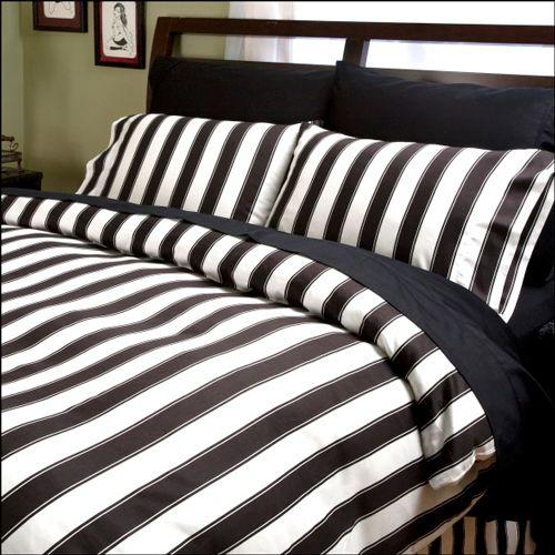 Black And White Striped Sheets Hermosas Habitaciones Fundas Nordicas Decoracion De Unas