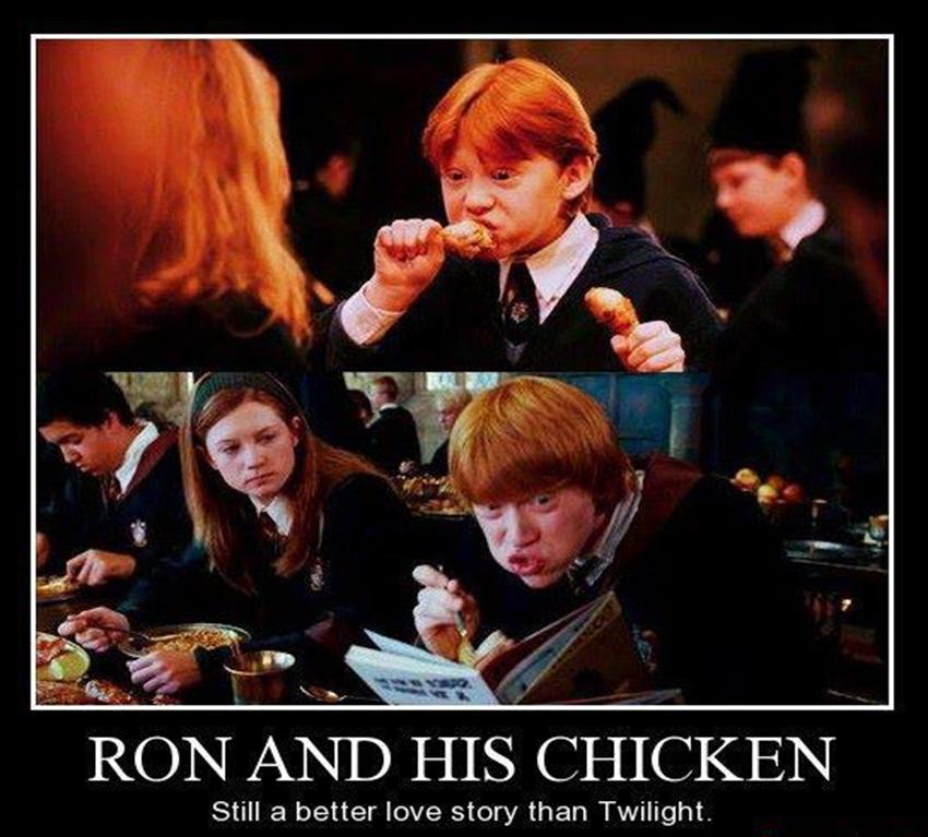 Ron And His Chicken By Goldenphoenix75 On Deviantart Harry Potter Jokes Harry Potter Funny Harry Potter Memes