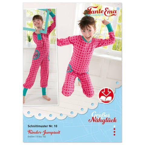 Kinder-Jumpsuit Größen 110 bis 152, Nähanleitung und Schnittmuster ...