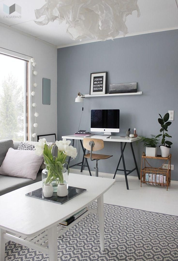 grey walls and area rug possible white desks smart on what is a wall id=48540