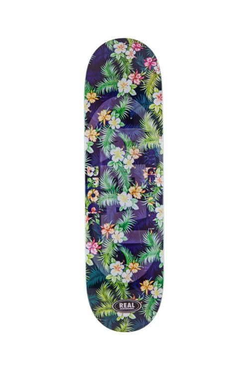The Brock Floral EMB Deck from Real Skateboards.