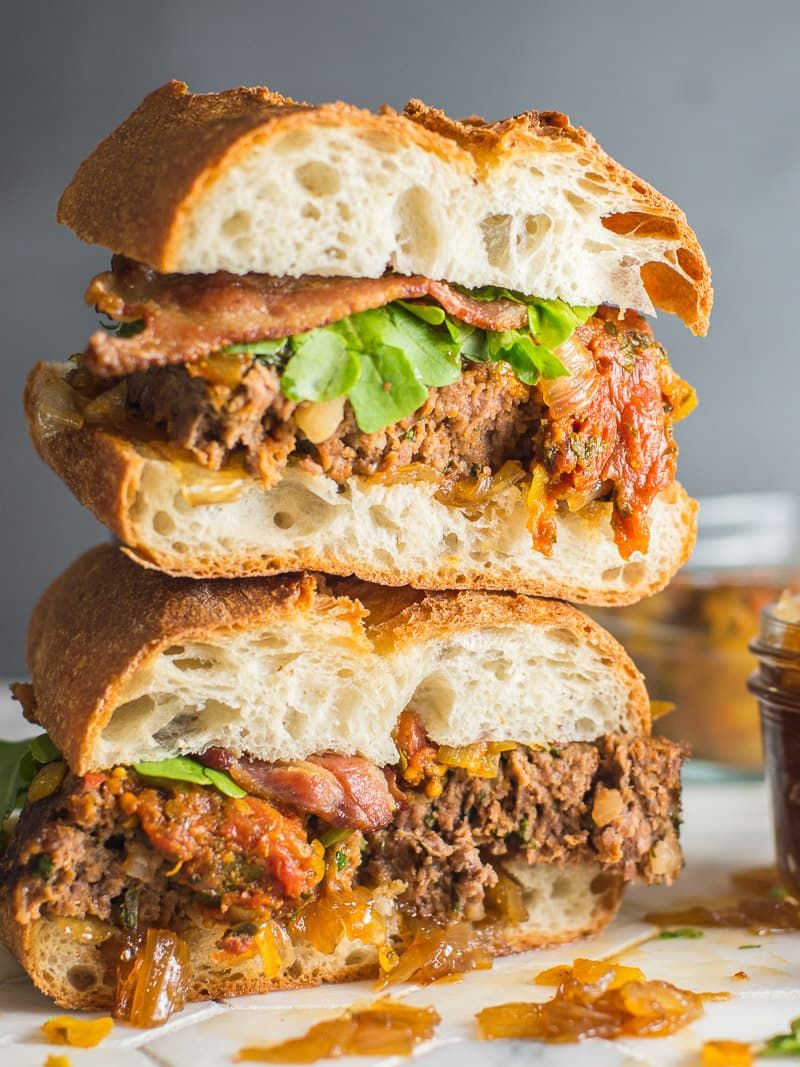 The Best Meat Loaf Sandwich With Onion Jam And Bacon Meatloaf Sandwich Best Meatloaf Meatloaf