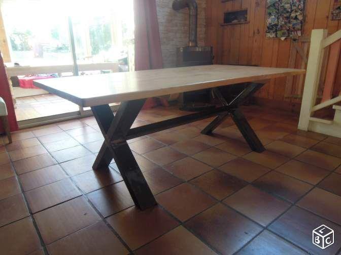 Table Artisanale En Bois Et Metal Ameublement Cotes D Armor Leboncoin Fr Avec Images Table Artisanale Ameublement