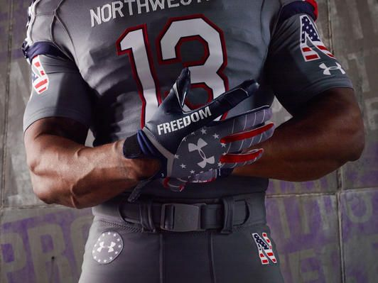 online store 10f50 5ad79 Northwestern University Wounded Warrior Project uniforms ...