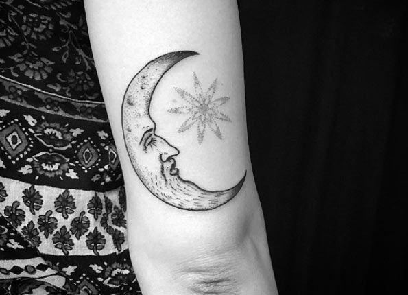 48 Magnificent Moon Tattoo Designs Ideas With Images Moon Tattoo Designs Tattoos Inspirational Tattoos